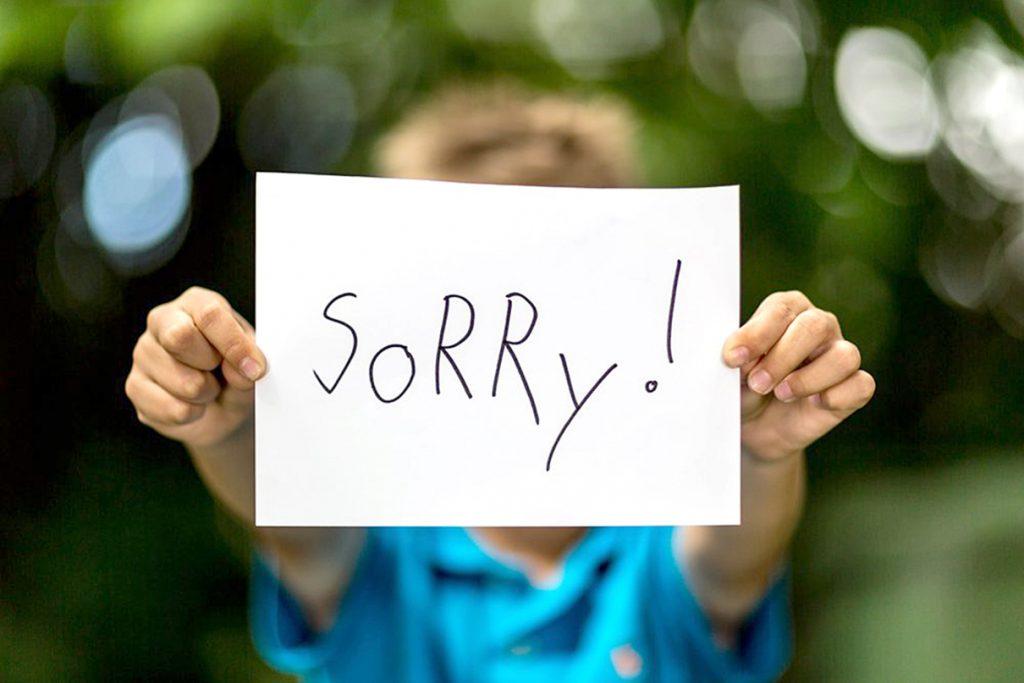 Nói lời xin lỗi trong tiếng anh